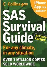 """SAS Survival Guide 2E Collins Gem For Any Climate Situation Land Pocket 1x3x4.8"""""""
