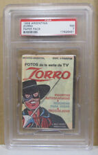 VINTAGE 1958 ARGENTINA ZORRO PAPER PACK GRADED PSA 7 NEAR MINT VERY SCARCE
