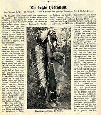 Die Letzte Indianer-Heerschau Häuptlinge Little-Big-Horn von 1912
