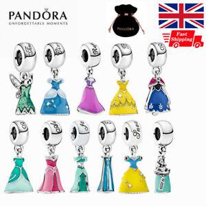 Genuine Pandora Disney Princess Dress Dangle Charm Silver ALE S925 Gift Pouch