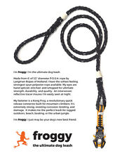 Froggy - The Ultimate Kong Frog Dog Leash (Black w/Reflective Tracer)