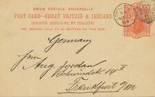 """GB 1894 QV 1 d pc (private printed: Poth, Hille & Co.) """"LONDON.E.C / E.C / 62"""""""