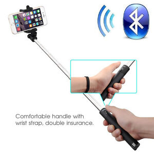 Bluetooth Extendable Handheld Selfie Self Stick Monopod for Samsung iPhone HTC