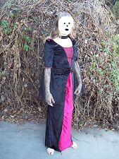 Vampire Dress Girls 10 12 30B Cosplay Costume Red Black Velour Lace Halloween