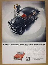 1959 Volvo PV544 PV-544 & 122S 122-S black & red cars photo vintage print Ad