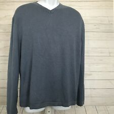 Banana Republic Mens Sz L Silk Cashmere Vee Neck Sweater Long Sleeve