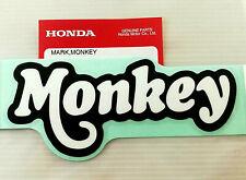 ORIGINAL Honda MONKEY Aufkleber-12,5cm-SCHWARZ/WEISS-Sticker-Logo-Emblema-Emblem
