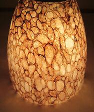 "Coffee Bean Specs Blown Glass Neckless 1 1/4"" Opening Pendant Shade Light Lamp"