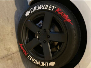 "Tire Lettering Chevrolet Racing Sticker 1.25"" 15""16""17""18""19""20""21""22""23""24"" 8"