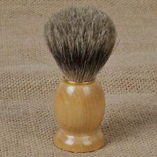Handmade Badger Hair Wood Shaving Brush Wooden Handle Salon Barber Men Tool Gift