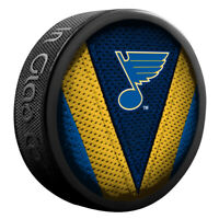 St. Louis Blues NHL Team Logo Stitch Souvenir Hockey Puck