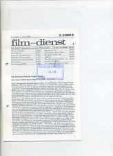 Film-Dienst (1978) Nr. 1 Bernhard und Bianca Die Biene Maja Bruce Lee Valentino