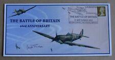 Batalla de Gran Bretaña 63RD aniversario 2003 Cubierta Firmada Por Segunda Guerra Mundial piloto WG Cdr Jack Rose DFC