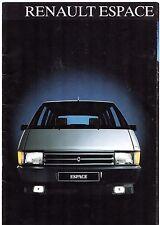 Renault Espace 1985-86 UK Market Sales Brochure 2000 GTS TSE