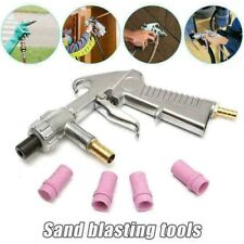 Sand Blasting Gun Sandblaster with Ceramic Nozzles Extra Iron Nozzle Tip Sets
