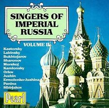 VARIOUS ARTISTS - SINGERS OF IMPERIAL RUSSIA, VOL. 2 NEW CD