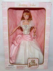 Birthday Wishes Barbie 1998 Special Edition 1st In Series Blonde IOB