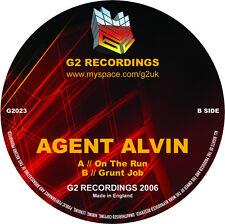 "Agent Alvin – On The Run NEW G2 023 VINYL 12"" DRUM & BASS IMPORT"