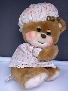 "VTG Fisher-Price 1985 Teddy Beddy Bear Quaker Oats Plush Bedtime Pajama Hat 11"""