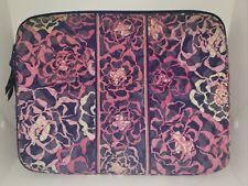 Vera Bradley Laptop Bag Pink Flowers 14 x 11 1/2