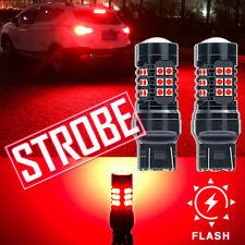 2x Red Flash Strobe 7443 7440 LED Brake Stop Light for Toyota Corolla 2009-2019