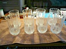 SET OF 8 HEAVY CRYSTAL GLASS TUMBLERS