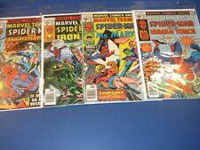 Marvel Team Up #61,62,63,64 Bronze age lot of 4 Spider-man Fine to FVF Byrne