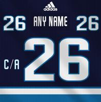 Winnipeg Jets NHL Adidas Dark Jersey Any Name Any Number Pro Lettering Kit