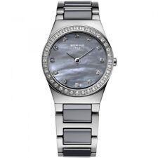 BERING Uhr Damenuhr Keramik Swarovski Edelstahl 32426-789