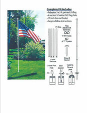 american flag pole 10' kit