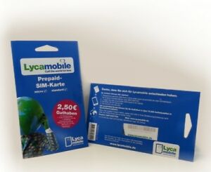 1x Lycamobile 1,00 € Prepaid Karte ✔ Vodafone ✔ Triple Sim ✔ Ausland ✔ Günstig