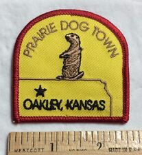 Prairie Dog Town Oakley Kansas KS Souvenir Patch