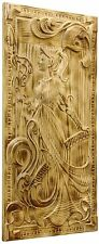 HANDMADE DECORATIVE CARVED WOODEN WALL PANEL FINE ASH-TREE WOOD  BRAND NEW