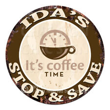 CWSS-0183 IDA'S STOP&SAVE Coffee Sign Birthday Mother's Day Gift Ideas