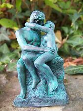 RE0249  FIGURINE SCULPTURE REPRODUCTION LE  BAISER  AUGUSTE  RODIN STYLE BRONZE