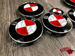 RED & WHITE CARBON FIBER Decal For BMW Badge Emblem HOOD TRUNK RIMS FITS ALL BMW