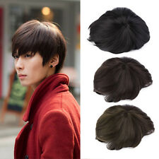 Korean Men's Handsome Short Straight Hair Full Wigs Cosplay Party 3 Colors LM