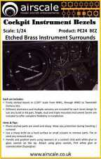 Airscale Decals 1/24 COCKPIT INSTRUMENT BEZELS Etched Brass
