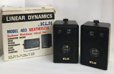 New listing Klh Linear Dynamics Model 403 Weatherized Indoor Outdoor Speakers Not Tested