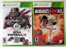 NCAA Football 12 and Major League Baseball 2K12 Xbox 360 NTSC