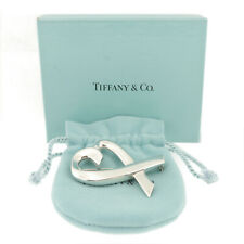Authentic Tiffany & Co. Loving Heart Large Brooch 925 Sterling Silver #f42677