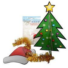 Desk Top 3d Xmas Tree Decoration Kit Magic Snow Novelty Secret Santa Office Gift