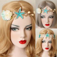 Wedding Bridal Flower Crown Hair Garland Starfish Nature Shell Headband M&O