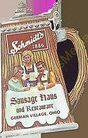 Schmidt's 1886 Sausage Haus and Restaurant German Village Ohio Vintage Menu's