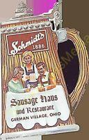 Schmidt's 1886 Sausage Haus and Restaurant German Village Ohio Vintage Menu's