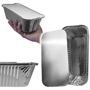 Essential Aluminium Foil Disposable Bread Baking Cooking Loaf Pan Dishes + Lids