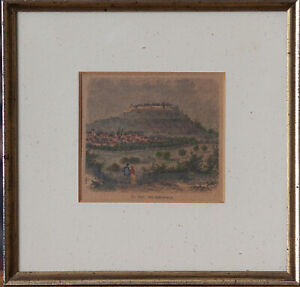 Der Hohenasperg. Colorierter Holzstich. ~ 1880.