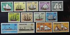 SINGAPORE 1980 SHIP FULL SET SG 364 - 376 MNH OG FRESH