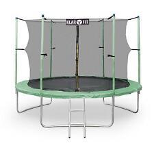 Top Trampolino Elastico Giardino 400Cm Scala Rete Sicurezza 150Kg 80 Molle Verde