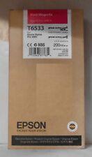 ORIGINALE Epson t6533 inchiostro magenta per Stylus Pro 4900 c13t653300 2015
